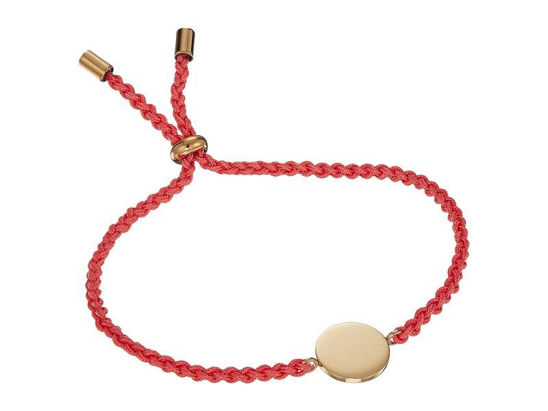 フォッシル レディース ブレスレット・バングル・アンクレット アクセサリー Engraveable Steel Disc Slider Bracelet Gold