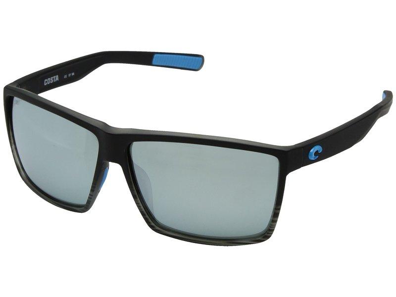 コスタ メンズ サングラス・アイウェア アクセサリー Rincon Matte Smoke Crystal Fade Frame/Gray/Silver Mirror 580G