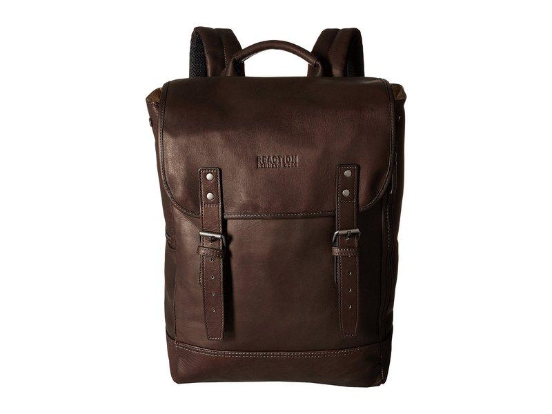 ケネスコール メンズ バックパック・リュックサック バッグ Colombian Leather - Computer Backpack Brown