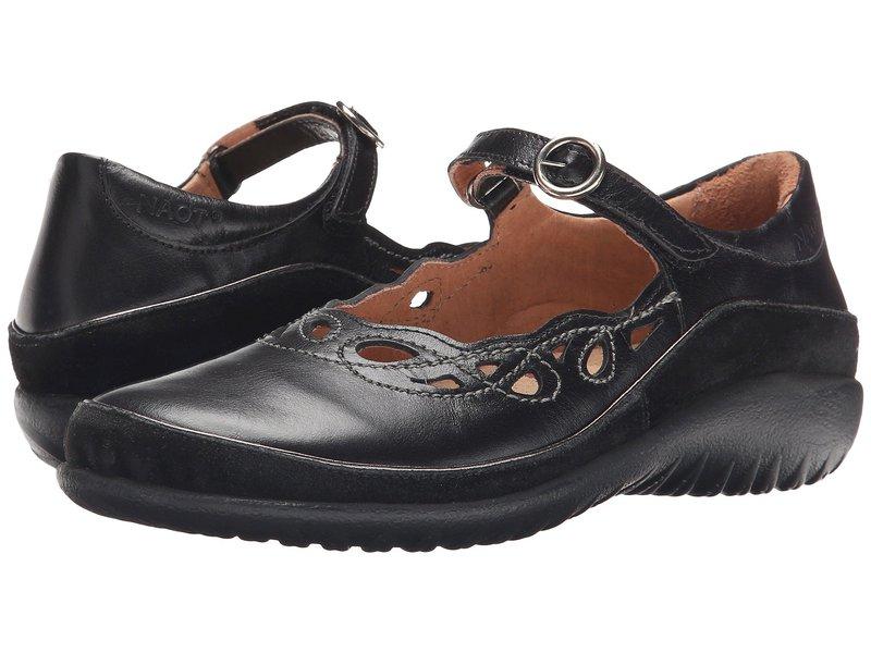 ナオト レディース サンダル シューズ Rahina Black Madras Leather/Black Suede