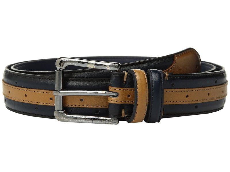 ステイシーアダムス メンズ ベルト アクセサリー Drexler 33mm Genuine Leather Belt Navy/Tan