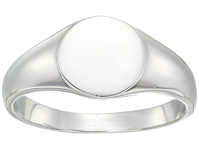 シャシ レディース リング アクセサリー Signet Ring White Gold