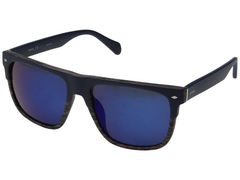 フォッシル メンズ サングラス・アイウェア アクセサリー FOS 3075/S Matte Blue/Blue Mirror
