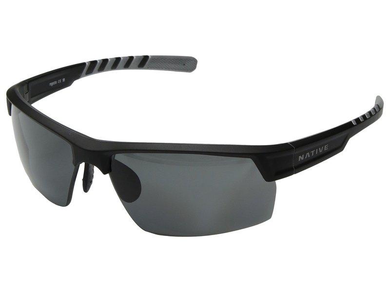 ネイティブアイウェア メンズ サングラス・アイウェア アクセサリー Catamount Matte Black/Crystal/Gray Polarized Lens