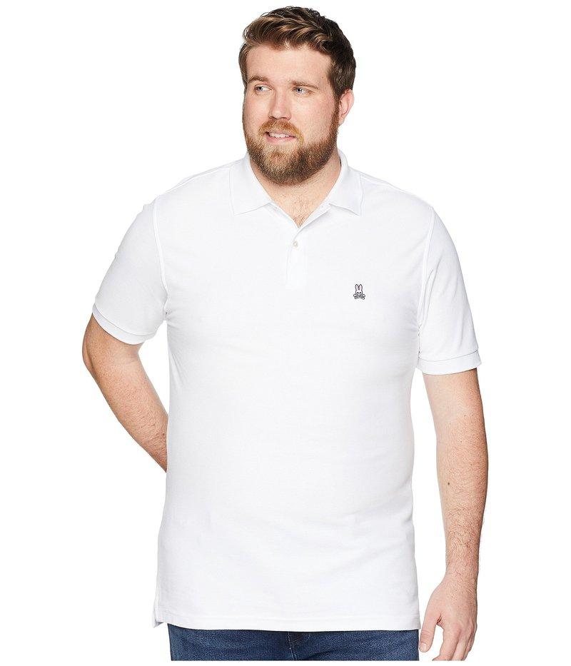 サイコバニー メンズ シャツ トップス Big and Tall Classic Polo White