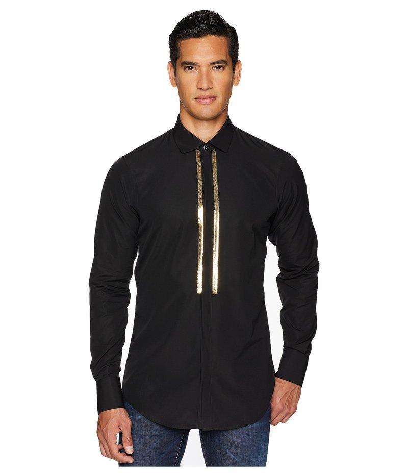 ディースクエアード メンズ シャツ トップス Stretch Poplin Evening Shirt Black/Gold