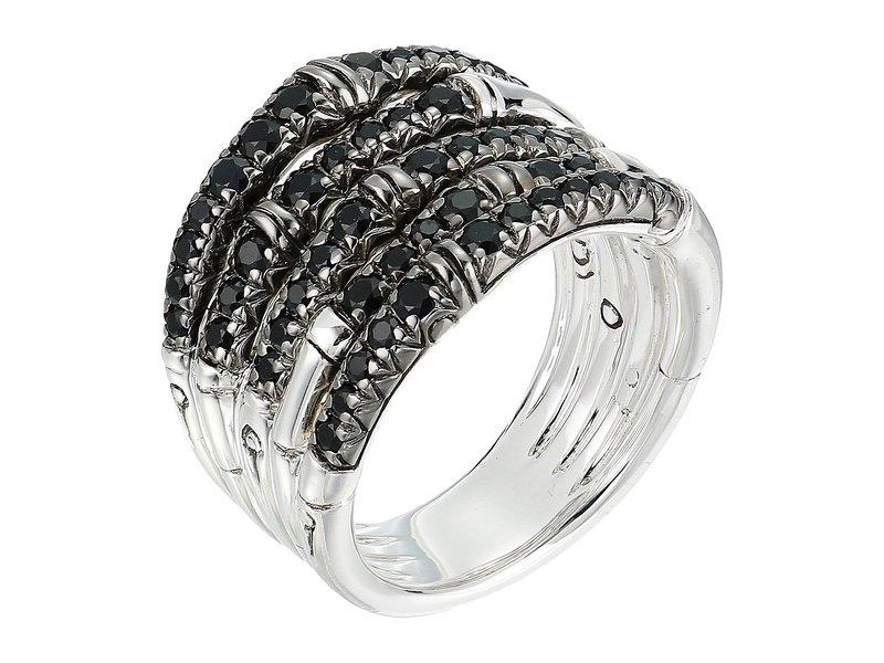 ジョン・ハーディー レディース リング アクセサリー Bamboo Ring with Black Sapphire Silver