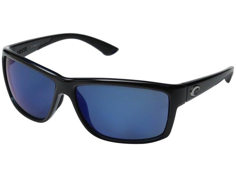 コスタ メンズ サングラス・アイウェア アクセサリー Costa Mag Bay 580 Mirror Plastic Shiny Black/Blue Mirror 580P Plastic Lens