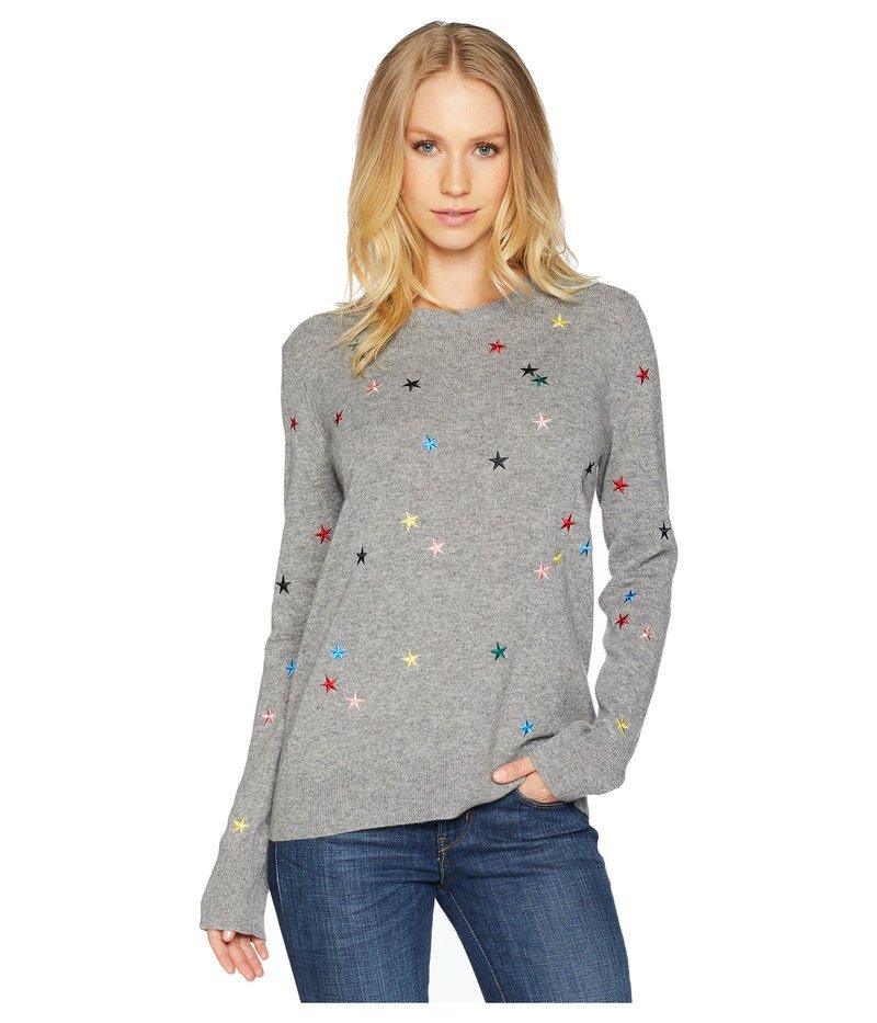 エキプモン レディース ニット・セーター アウター Shane Crew Star Cascade Embroidery Sweater Heather Grey Multi
