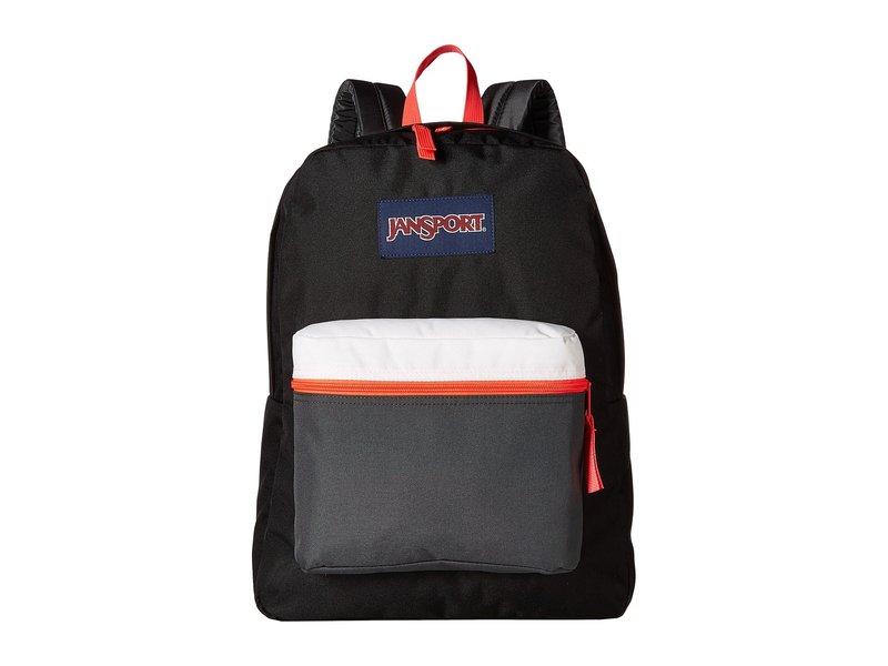 ジャンスポーツ メンズ バックパック・リュックサック バッグ Exposed Black/Fluorescent Red
