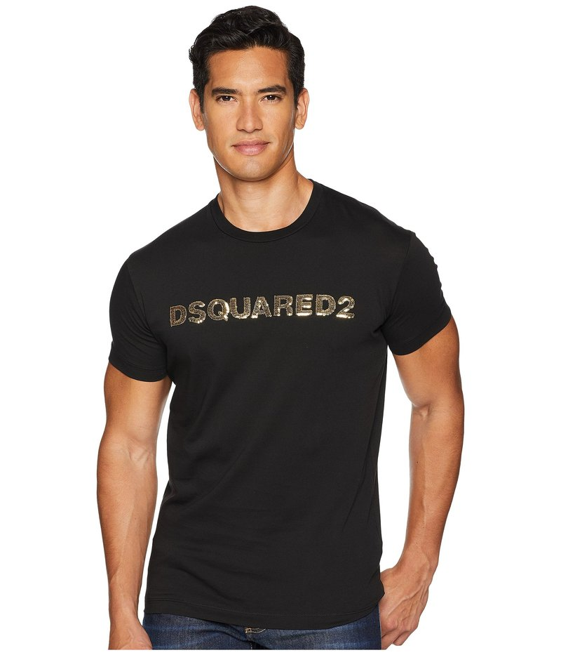 ディースクエアード メンズ シャツ トップス Waist Logo Long Fit T-Shirt Gold