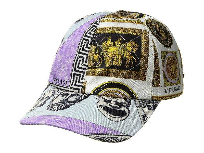 ヴェルサーチ メンズ 帽子 アクセサリー Roman Mask Print Cap Multi