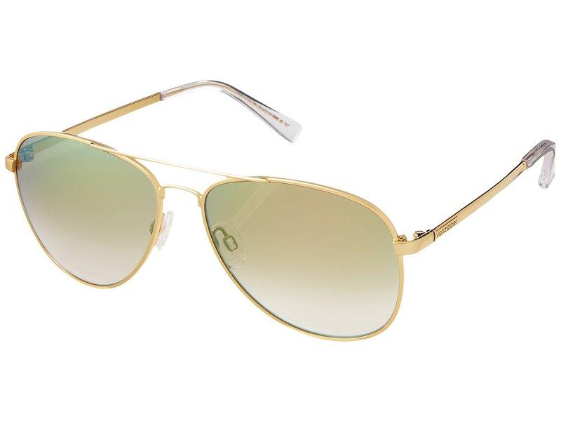 ボンジッパー メンズ サングラス・アイウェア アクセサリー Farva Gold/Green Chrome