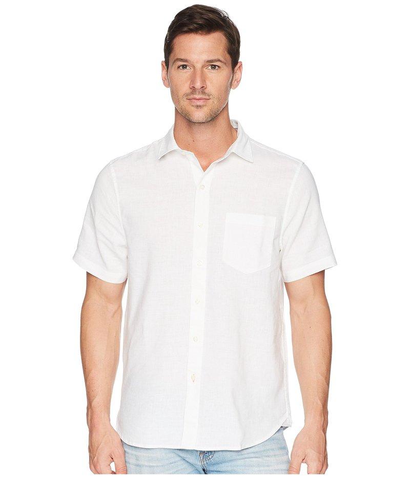 トッミーバハマ メンズ シャツ トップス Short Sleeve Lanai Tides Linen Shirt White
