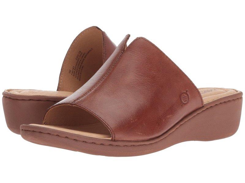ボーン レディース サンダル シューズ Bernt Light Brown Full Grain Leather