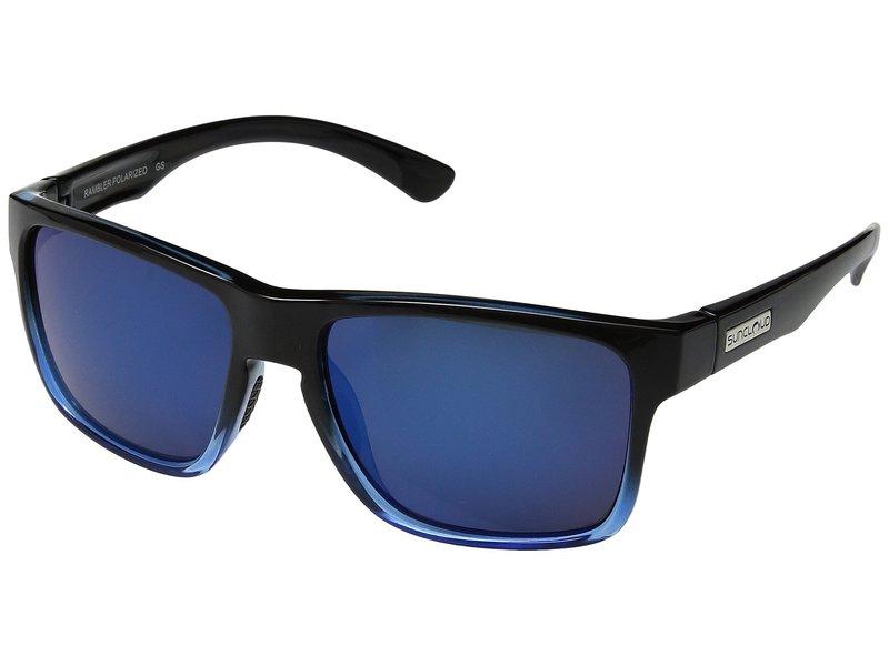 サンクラウドポラライズド メンズ サングラス・アイウェア アクセサリー Rambler Black Blue/Polarized Blue Mirror Polycarbonate Lens