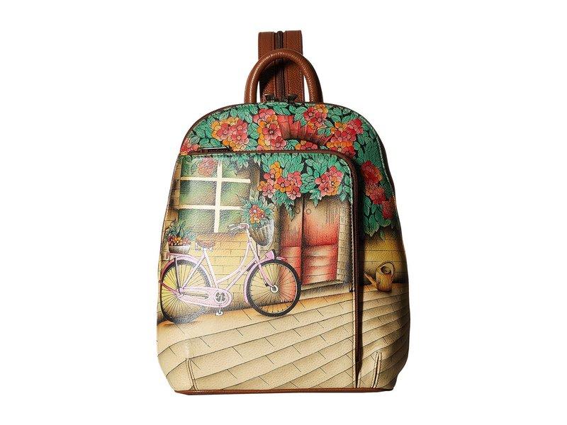アヌスカ レディース バックパック・リュックサック バッグ 487 Sling Over Travel Backpack Vintage Bike