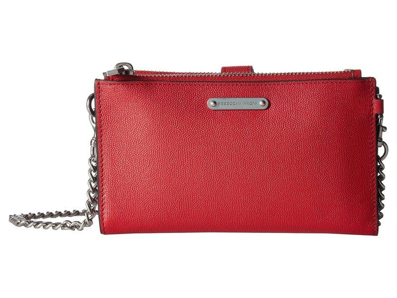 レベッカミンコフ レディース ハンドバッグ バッグ Bifold Wallet Crossbody Scarlet
