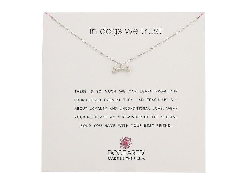 ドジャード レディース ネックレス・チョーカー・ペンダントトップ アクセサリー In Dogs We Trust, Dog Bone Necklace Sterling Silver