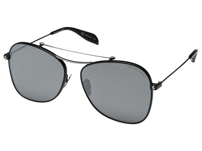 アレキサンダー・マックイーン レディース サングラス・アイウェア アクセサリー AM0096SA Black/Ruthenium Silver