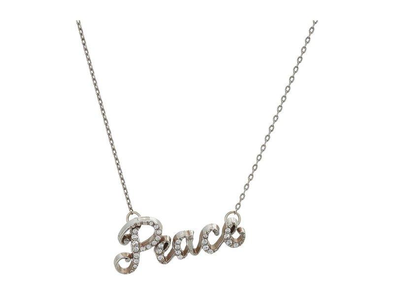 ブライトン レディース ネックレス・チョーカー・ペンダントトップ アクセサリー Peace Script Necklace Crystal