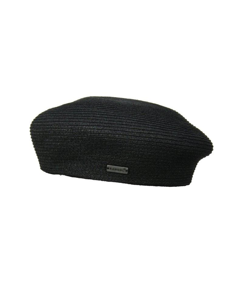 カンゴール メンズ 帽子 アクセサリー Braid Beret Black