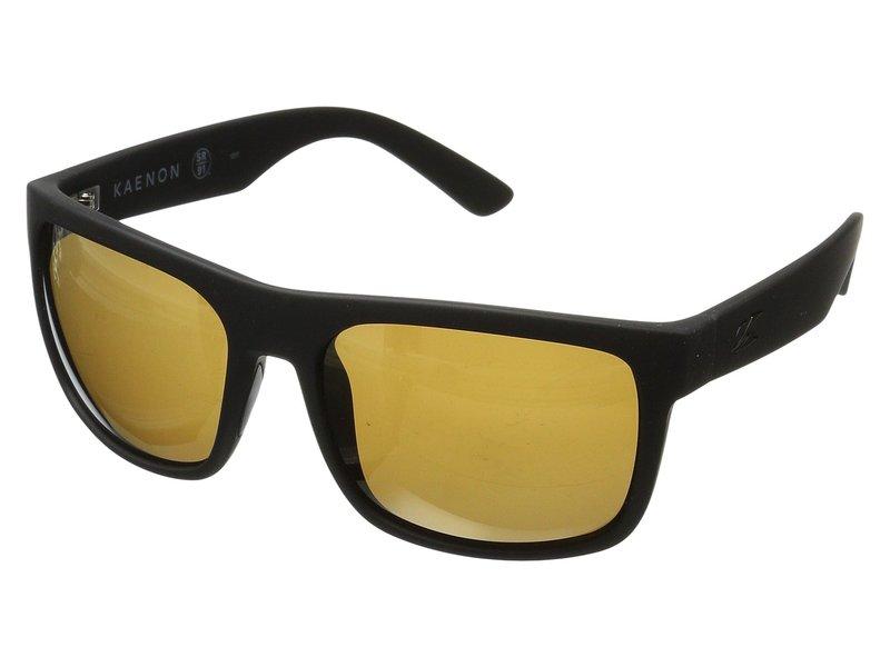 カエノン メンズ サングラス・アイウェア アクセサリー Burnet Xl Black Matte Grip Brown 12-Polarized Gold Mirror
