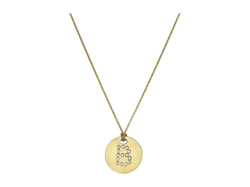 ロバートコイン レディース ネックレス・チョーカー・ペンダントトップ アクセサリー Tiny Treasures 18K Yellow Gold Initial B Pendant Necklace Yellow Gold
