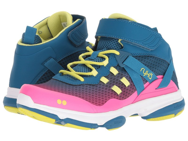 ライカ レディース スニーカー シューズ Devotion XT Mid Seaport/Hyper Pink/Bright Chartreuse