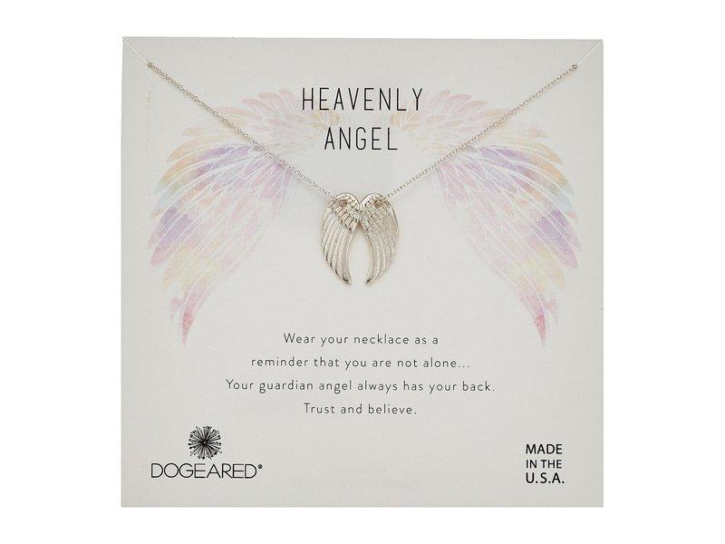 ドジャード レディース ネックレス・チョーカー・ペンダントトップ アクセサリー Heavenly Angel, Slide Through Angel Wing Necklace Sterling Silver