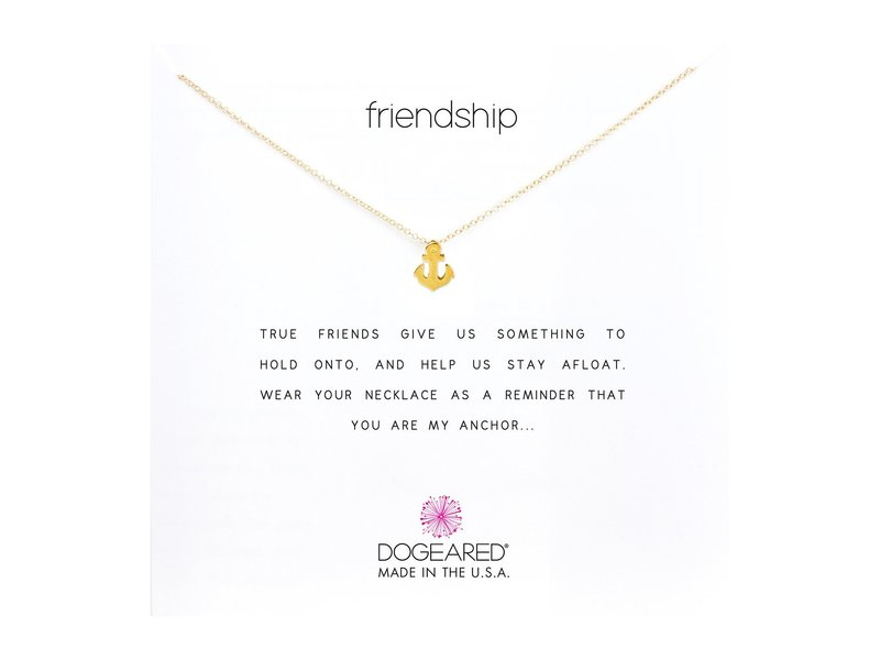 ドジャード レディース ネックレス・チョーカー・ペンダントトップ アクセサリー Friendship Anchor Reminder Necklace Gold