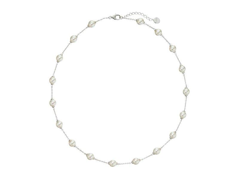 マジョリカ レディース ネックレス・チョーカー・ペンダントトップ アクセサリー 18/8mm Illusion Necklace Silver/White