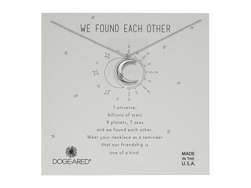 ドジャード レディース ネックレス・チョーカー・ペンダントトップ レディース アクセサリー Silver We Found Each Necklace Other, Crecent Moon with Crystal Necklace Sterling Silver, 柔らかい:c231ce62 --- idia-africa.com