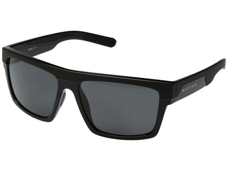 ネイティブアイウェア メンズ サングラス・アイウェア アクセサリー El Jefe Matte Black/Gloss Black/Gray Polarized Lens