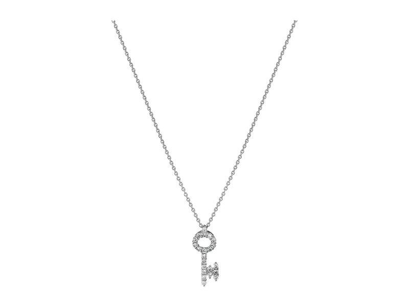 ロバートコイン レディース ネックレス・チョーカー・ペンダントトップ アクセサリー Tiny Treasures 18K Diamond Baby Key Necklace White Gold