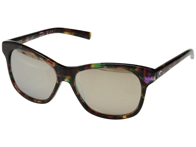 コスタ メンズ サングラス・アイウェア アクセサリー Sarasota Shiny Abalone Frame/Copper/Silver Mirror 580G