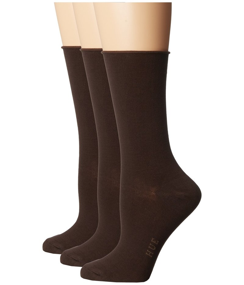 ヒュー レディース 靴下 アンダーウェア Jean Socks 3-Pack Espresso