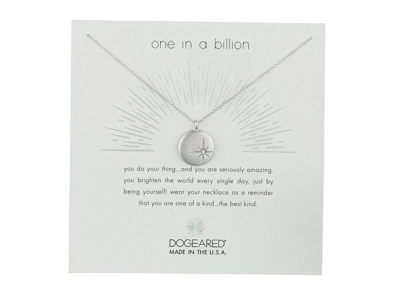 ドジャード レディース ネックレス・チョーカー・ペンダントトップ アクセサリー One In A Billion, Sparkle Star Disc Necklace Sterling Silver