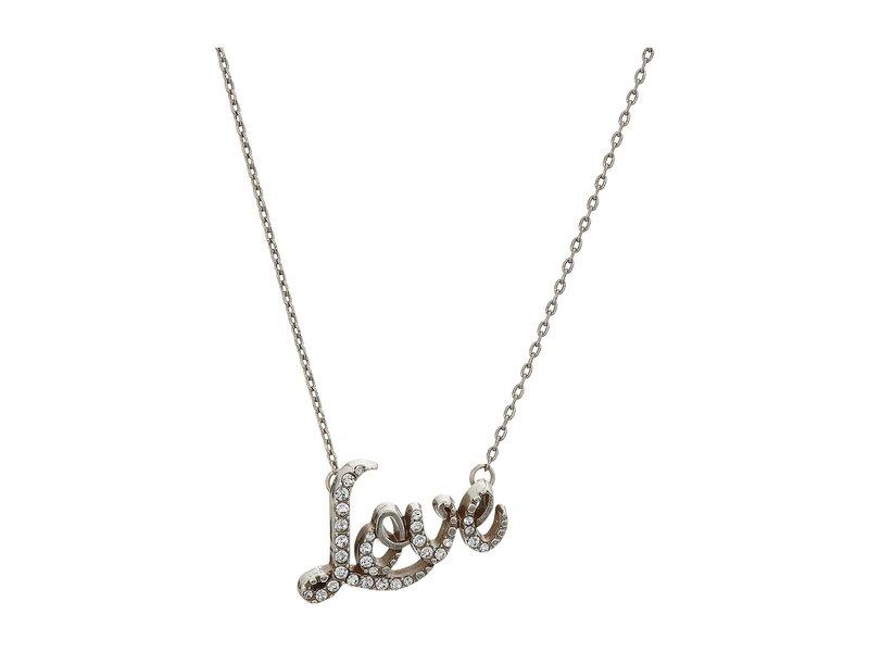 ブライトン レディース ネックレス・チョーカー・ペンダントトップ アクセサリー Love Script Necklace Crystal 1