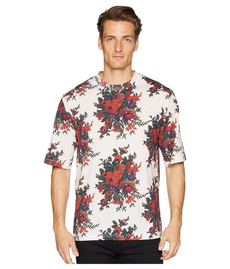 アレキサンダー・マックイーン メンズ シャツ トップス Floral T-Shirt Parchment