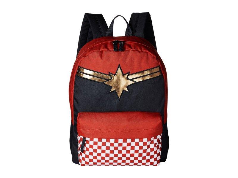 バンズ レディース バックパック・リュックサック バッグ Captain Marvel Realm Backpack Racing Red