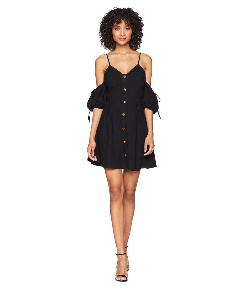 ジェイオーエー レディース ワンピース トップス Cold Shoulder Button Up Dress Black