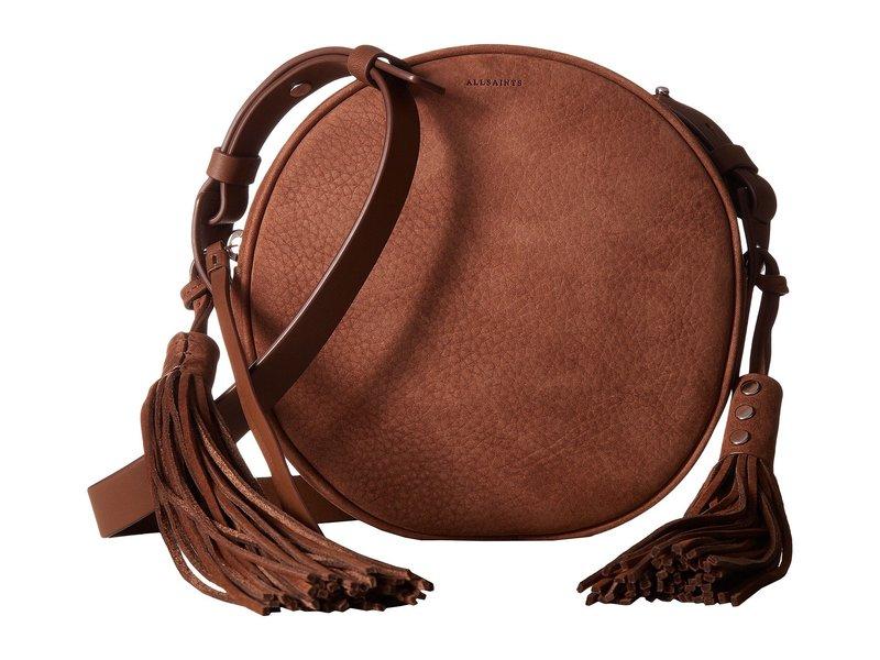 オールセインツ レディース ハンドバッグ バッグ The Kepi Leather Round Crossbody Coffee Brown