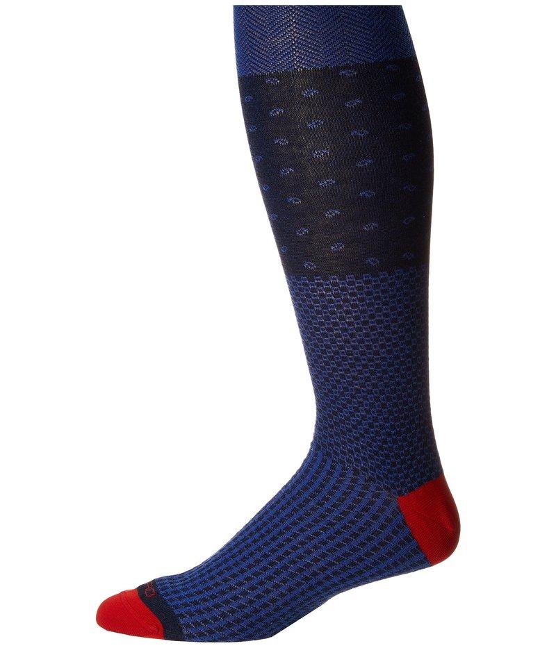 エトロ メンズ 靴下 アンダーウェア Herringbone Socks Blue