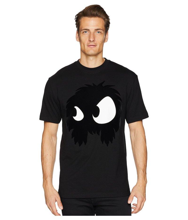 アレキサンダー・マックイーン メンズ シャツ トップス Monster Dropped Shoulder T-Shirt Black/Multi