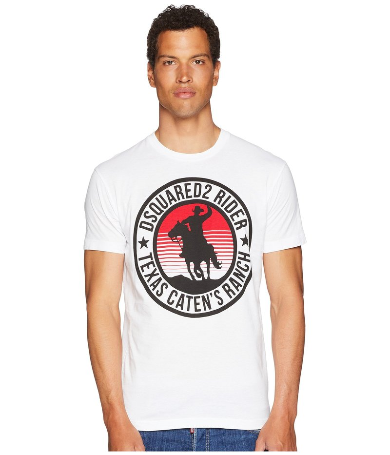 ディースクエアード メンズ シャツ トップス Cowboy T-Shirt White