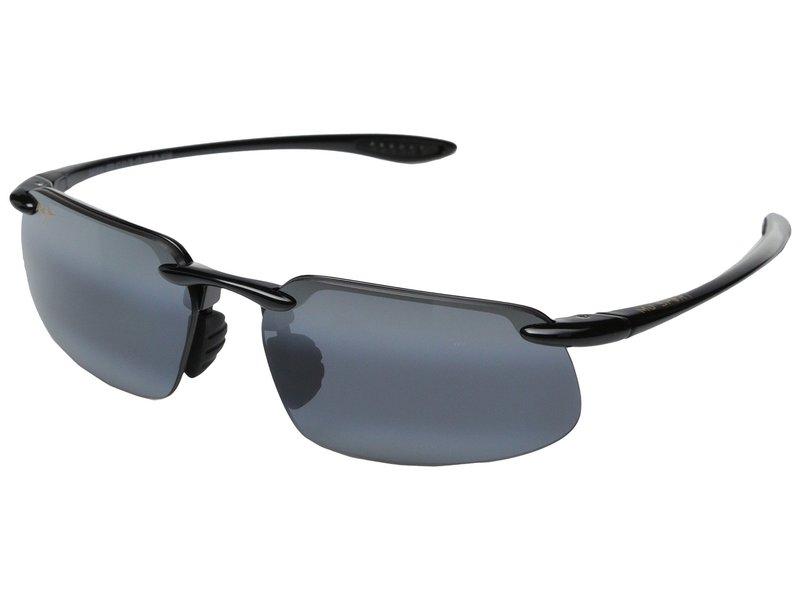 マウイジム メンズ サングラス・アイウェア アクセサリー Kanaha Universal Fit Gloss Black/Neutral Grey
