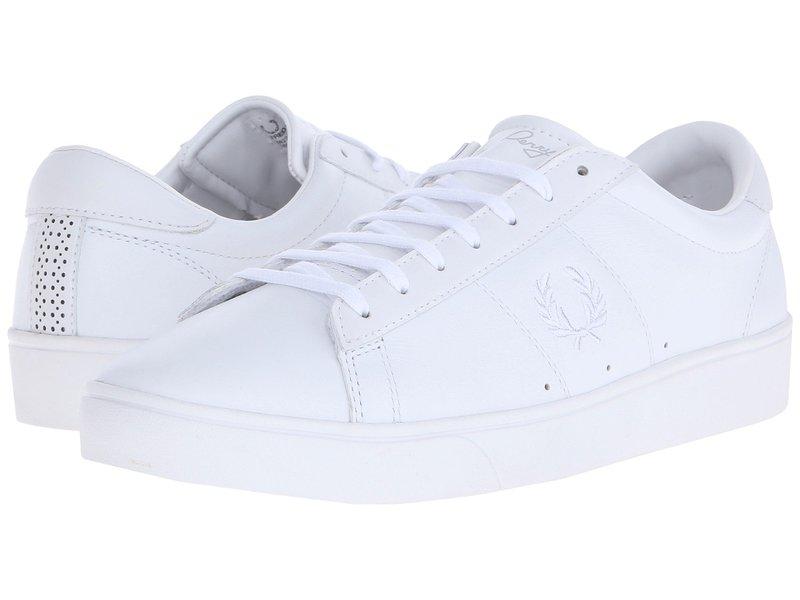 フレッドペリー メンズ スニーカー シューズ Spencer Leather White/White