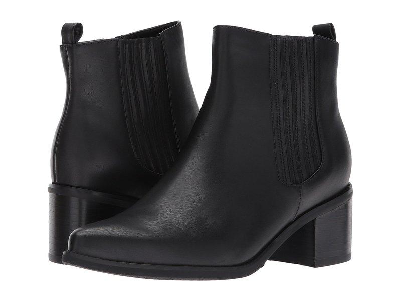 ブロンド レディース ブーツ・レインブーツ シューズ Elvina Waterproof Bootie Black Leather