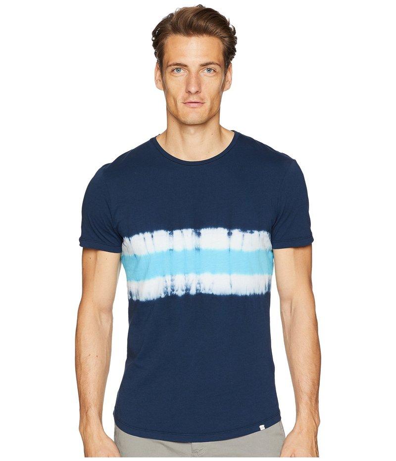 オールバー ブラウン メンズ シャツ トップス Ob-T Tie-Dye T-Shirt Navy/Azure